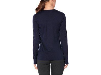"ICEBREAKER Merino Damen Bergsport-Shirt ""Tech Lite Landscape Lines"" Langarm Schwarz"