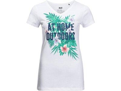 """JACKWOLFSKIN Damen Outdoor-Shirt """"At Home T Women"""" Kurzarm Weiß"""