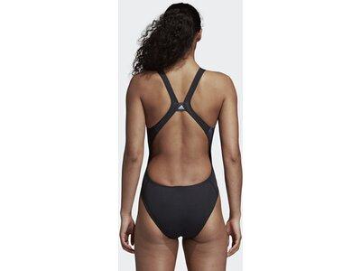 ADIDAS Damen Placed Print Badeanzug Schwarz