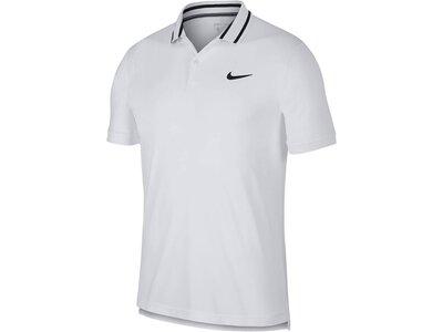 "NIKE Herren Tennis Polo ""Court Dri Fit"" Kurzarm Weiß"