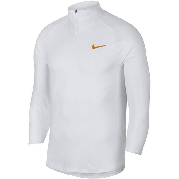 NIKE Herren Tennisshirt Challenger 3/4-Arm | Sportbekleidung > Sportshirts > Tennisshirts | White - Gold | Nike