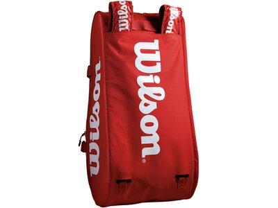 "WILSON Tennistasche ""Super Tour 3 Compartment Bag"" Rot"