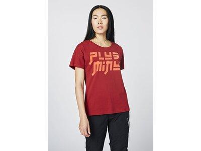 CHIEMSEE T-Shirt mit samtigem PlusMinus-Logo auf der Vorderseite - GOTS zertifiziert Rot