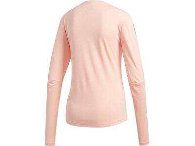 "ADIDAS Damen Laufshirt ""Own The Run"" Langarm Rot"