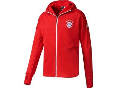 "ADIDAS Herren Trainingsjacke / Sweatjacke ""FC Bayern München Anthem adidas Z.N.E. Hoodie"" Rot"