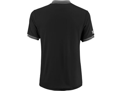"WILSON Herren Poloshirt ""Team"" Kurzarm Schwarz"