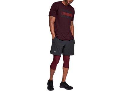UNDERARMOUR Herren Trainingsshirt UA Team Issue Wordmark Kurzarm Rot