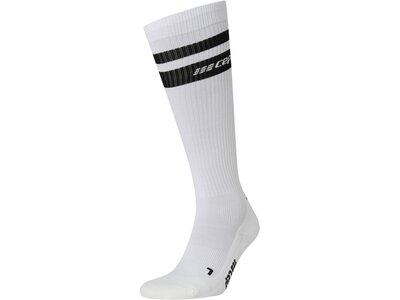 "CEP Herren Kompressisonssocken ""80s Compression Socks"" Silber"