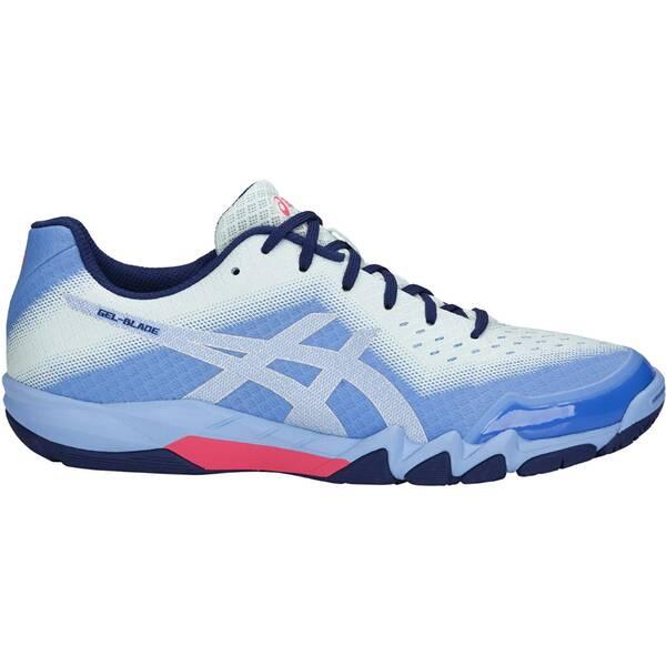 ASICS Damen Badmintonschuhe / Hallenschuhe Gel-Blade 6 | Schuhe > Sportschuhe > Hallenschuhe | Blue - Silver | Gummi | ASICS