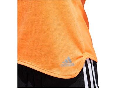 ADIDAS Damen Laufshirt Kurzarm Orange