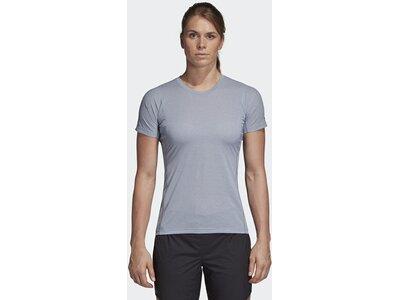 ADIDAS Damen T-Shirt Agravic Blau