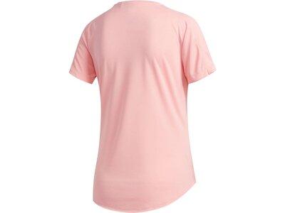 ADIDAS Damen Laufshirt Kurzarm Rot