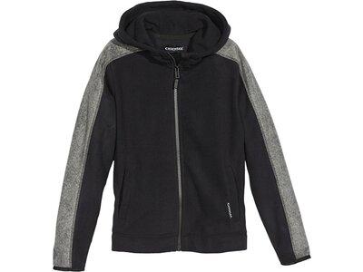 CHIEMSEE Fleece Jacke mit PlusMinus Rückenprint Schwarz