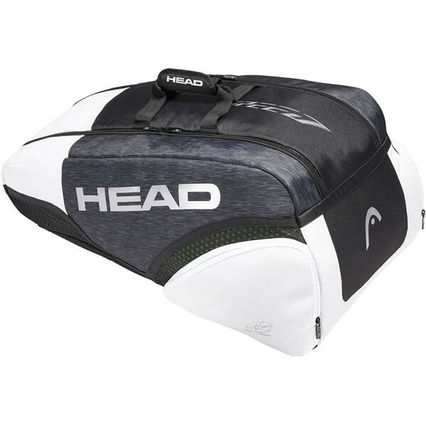 HEAD Tennistasche Djokovic 9R Supercombi Schwarz