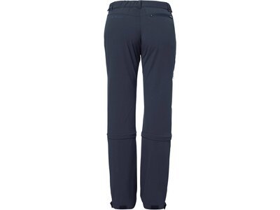 "VAUDE Damen Outdoor Zipp-Off-Hose ""Farley Stretch Capri T-Zip II"" Blau"