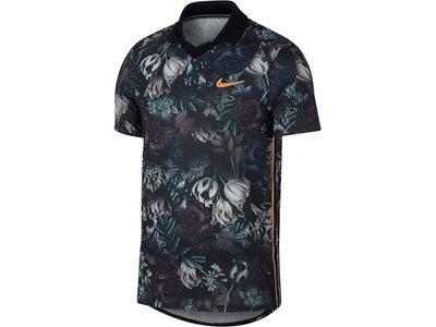 NIKE Herren Tennisshirt Kurzarm Schwarz