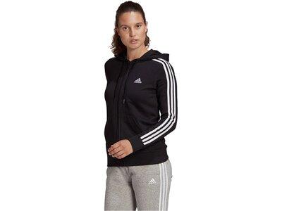 ADIDAS Damen Sweatjacke mit Kapuze Schwarz