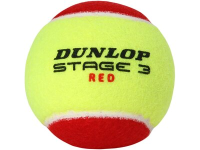 "DUNLOP Tennisbälle ""Stage 3 Red"" 12er Set Gelb"