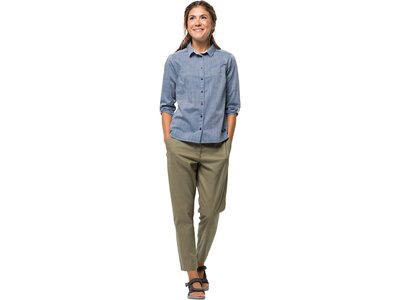 """JACKWOLFSKIN Damen Outdoor-Bluse """"Emerald Lake Shirt Women"""" 3/4-Arm Grün"""