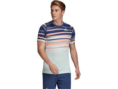 """ADIDAS Herren Tennisshirt """"Freelift Tee Heat.Rdry"""" Silber"""