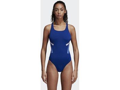 ADIDAS Damen Athletic Tape Badeanzug Blau