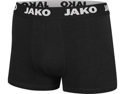 JAKO Herren Boxershort Basic 2er Pack Schwarz