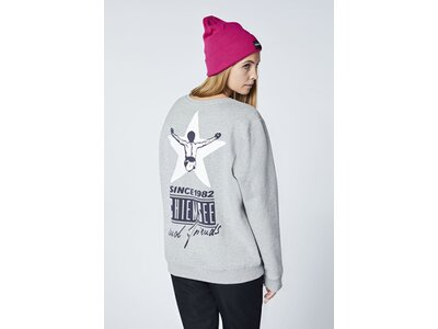 CHIEMSEE Sweatshirt Unisex mit großem Rückenprint - GOTS zertifiziert Grau
