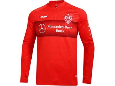 JAKO Herren VfB Teamline Fleece Ziptop Rot