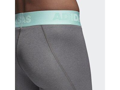 ADIDAS Damen Alphaskin Sport lange Tight Grau