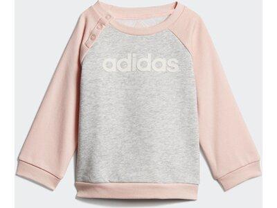 ADIDAS Kinder Linear Fleece Jogginganzug Silber