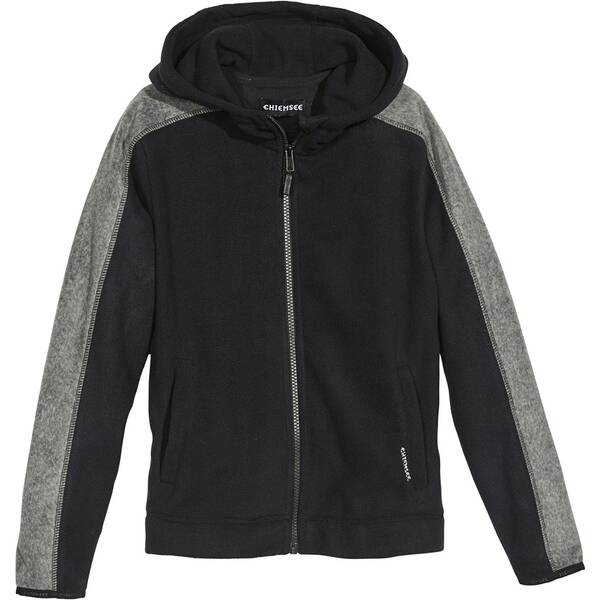 CHIEMSEE Fleece Jacke mit PlusMinus Rückenprint