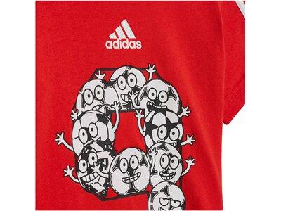 "ADIDAS Kinder Trainingsanzug ""I Lil 3 Stripes Sport Performance Set"" Rot"