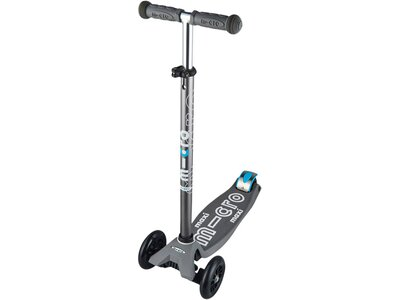 """MICRO Kinder Roller """"Scooter Maxi Micro Deluxe"""" mit T-Lenker Grau"""