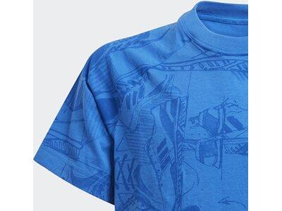 ADIDAS Kinder T-Shirt ID Print Blau