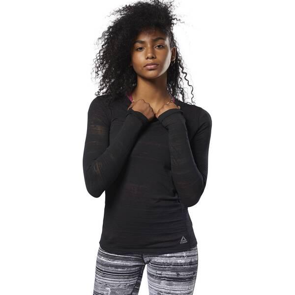 REEBOK Damen Burnout Long-Sleeve Shirt