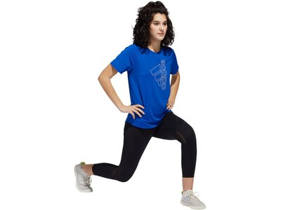 "ADIDAS Damen T-Shirt ""Tech Badge of Sports Tee"" Blau"