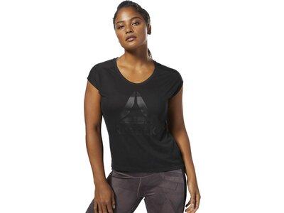 REEBOK Damen Workout Ready Supremium 2.0 T-Shirt Schwarz