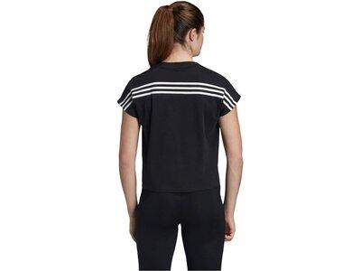 "ADIDAS Damen T-Shirt ""3-Stripes"" Schwarz"