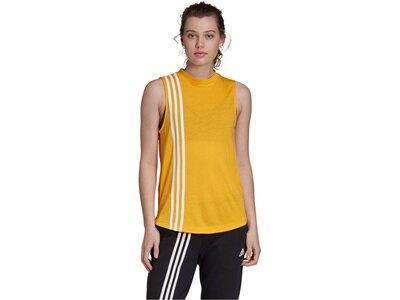 """ADIDAS Damen Fitness-Tanktop """"3-Streifen"""" Weiß"""