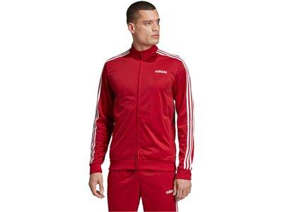 """ADIDAS Herren Trainings-Sweatjacke """"Essentials 3-Streifen"""" Rot"""