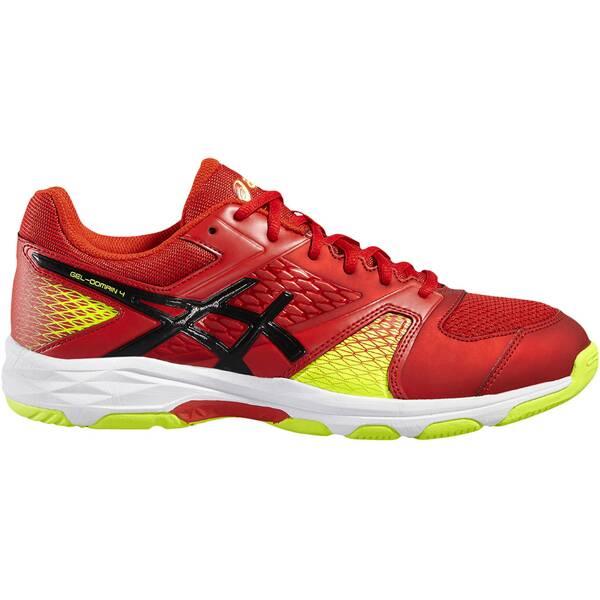 ASICS Herren Handballschuhe Gel Domain 4 | Schuhe > Sportschuhe > Handballschuhe | Black - Yellow | Gummi | ASICS