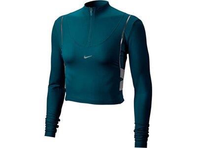 "NIKE Damen Fitnessshirt ""HyperWarm"" Langarm Blau"