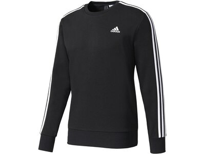 ADIDAS Herren Sweatshirt Essentials 3 Stripes Crew Langarm Schwarz