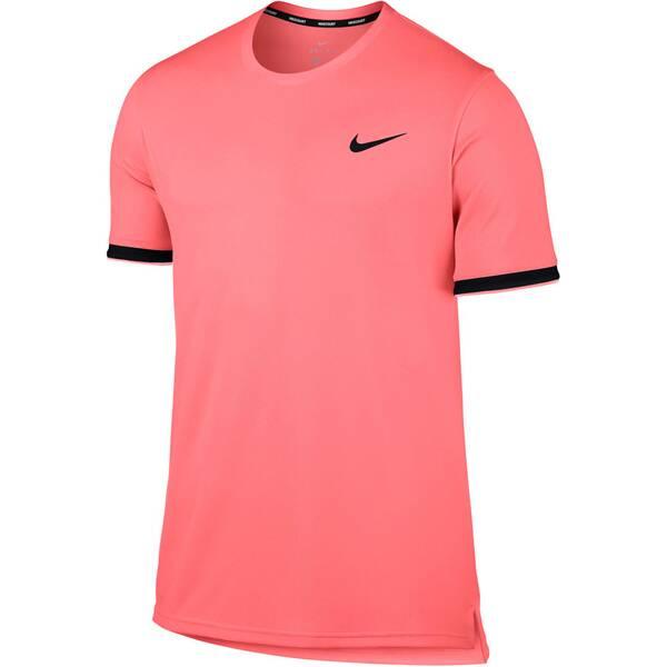 NIKE Herren Tennisshirt Kurzarm | Sportbekleidung > Sportshirts > Tennisshirts | Lava - Black | Nike