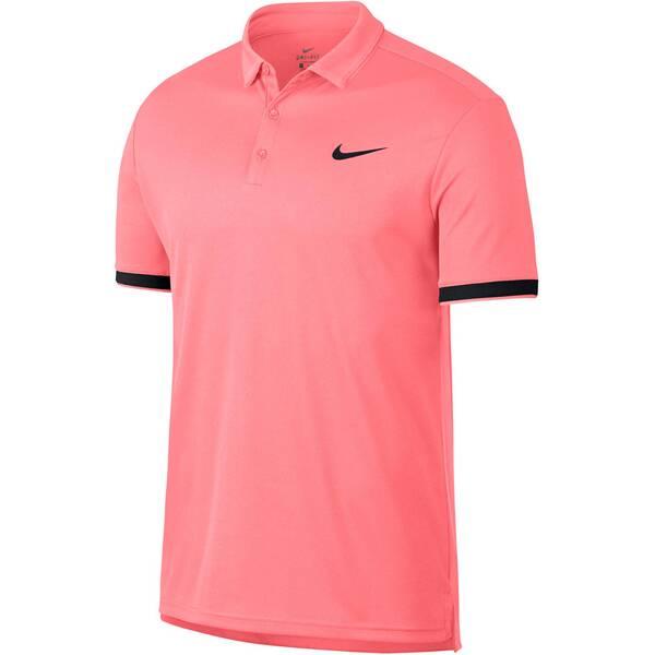 NIKE Herren Tennisshirt / Poloshirt NikeCourt Dry Tennis Polo | Sportbekleidung > Sportshirts > Tennisshirts | Pink - Schwarz | NIKE