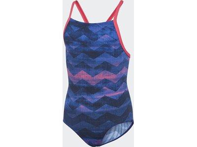 ADIDAS Kinder Allover Print Badeanzug Blau