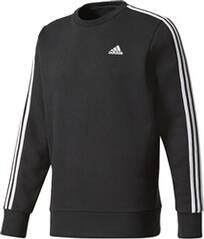 ADIDAS Herren Sweatshirt Essentials 3-Stripes Crew Fleece Langarm