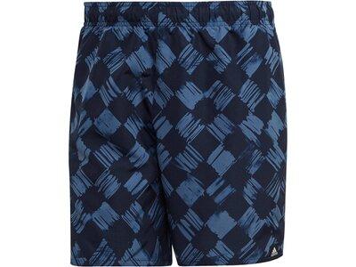 "ADIDAS Herren Badeshorts ""Printed Check Shorts"" Schwarz"