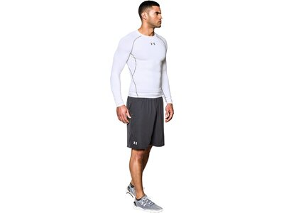 UNDERARMOUR Herren Kompressions-Shirt Langarm HeatGear Armour Weiß