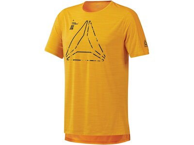 REEBOK Herren Trainingsshirt Kurzarm Gelb